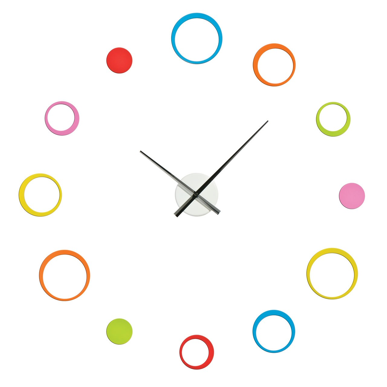 DIY Circle Wall Clock - Multi Coloured