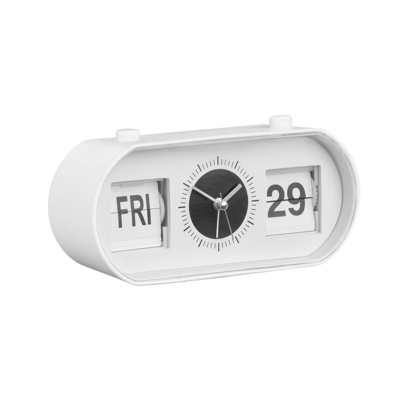 Prime Furnishing Alarm Flip Clock - White