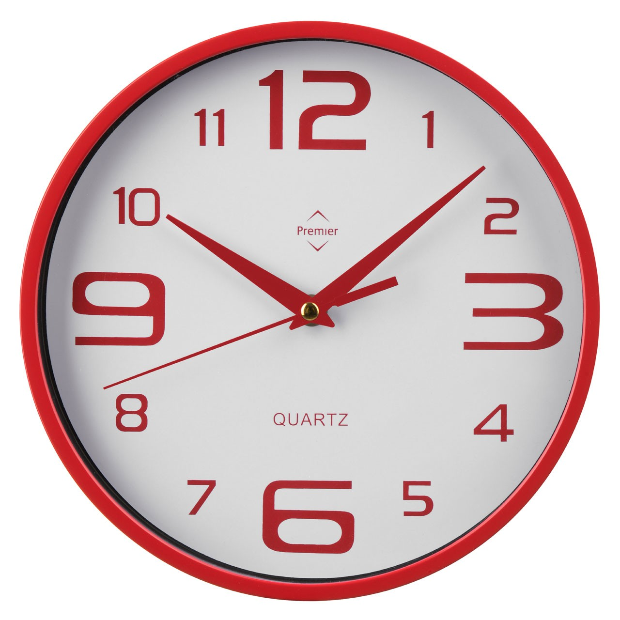 Prime Furnishing Round Wall Clock - Red
