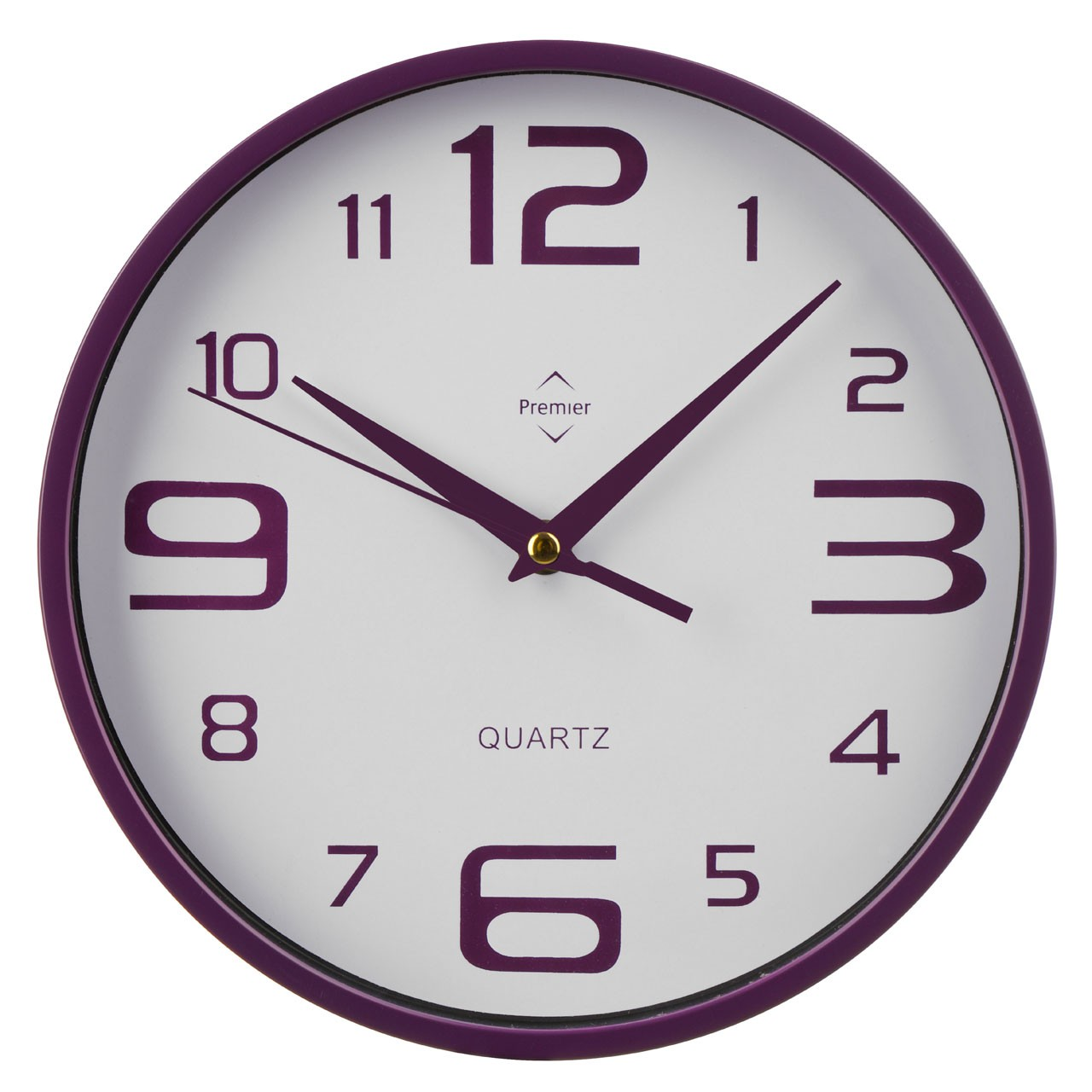 Round Wall Clock - Purple