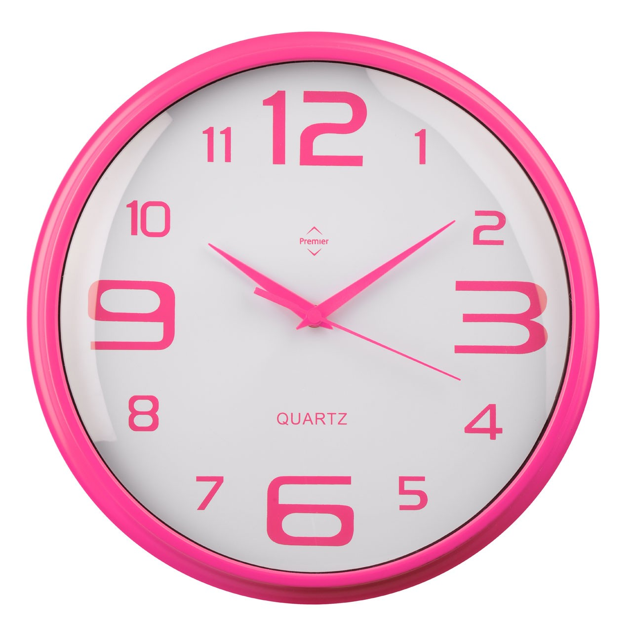 Round Wall Clock - Matt Hot Pink