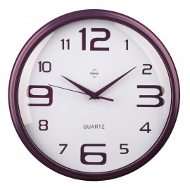 Wall Clock, Purple, Plastic