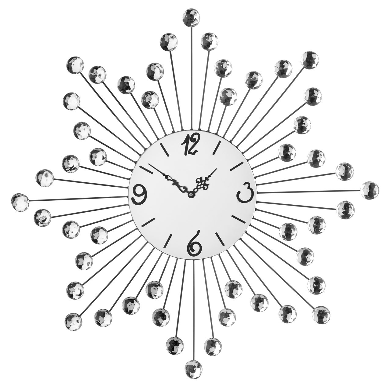 Diamante Metal Star Wall Clock