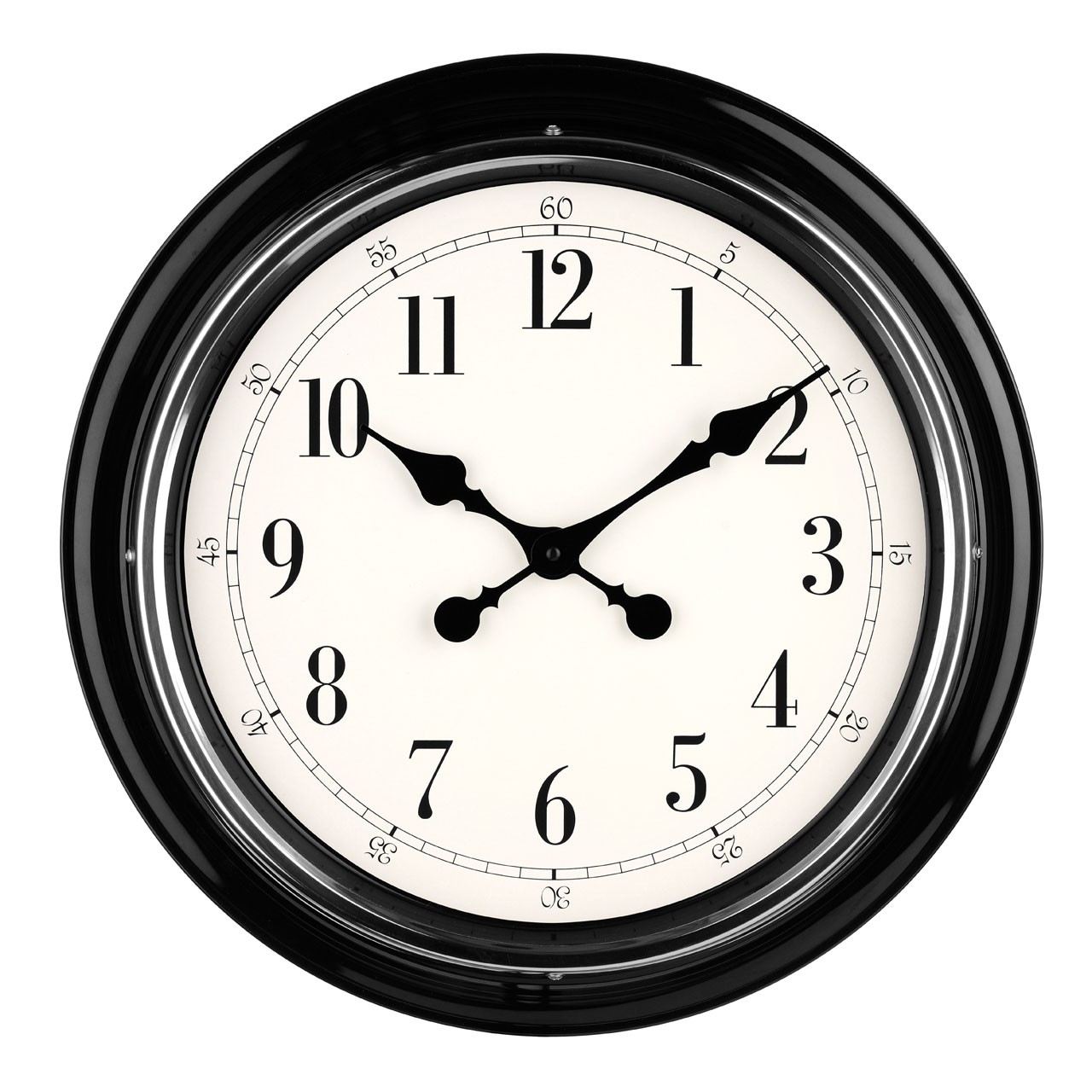 Metal Wall Clock - Cream
