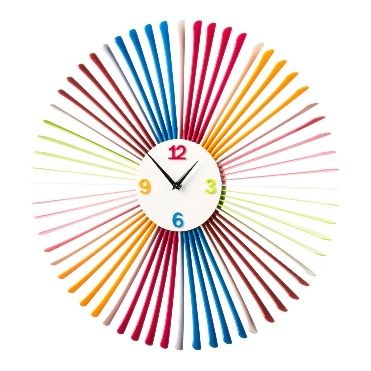 Prime Furnishing Acrylic Wall Clock - Multi-Colour