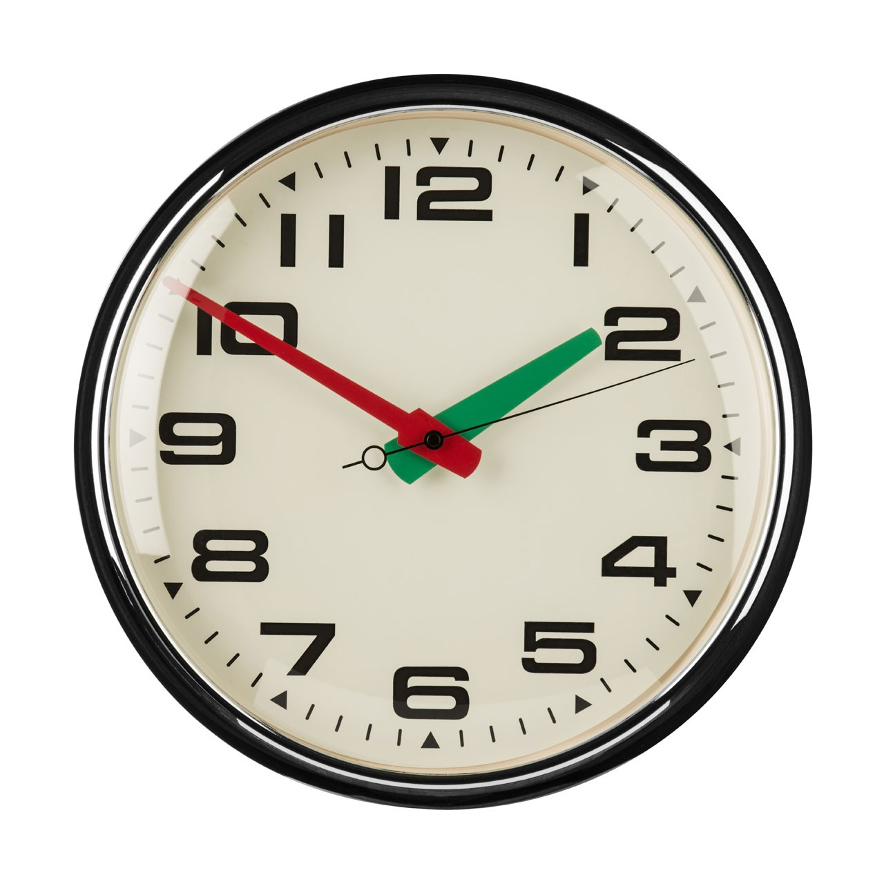 Prime Furnishing Metal Wall Clock - Red/Green