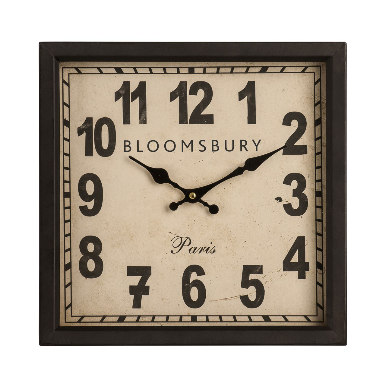 Prime Furnishing Wall Clock, Iron - Black
