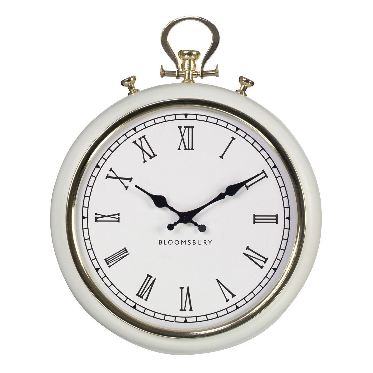 Prime Furnishing Pocket Style Wall Clock - White/Gold