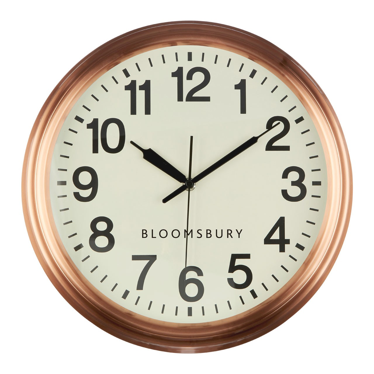 Prime Furnishing Bloomsbury Wall Clock, Metal - Copper