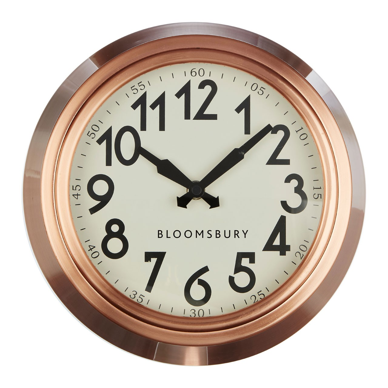 Prime Furnishing Bloomsbury Wall Clock, Copper