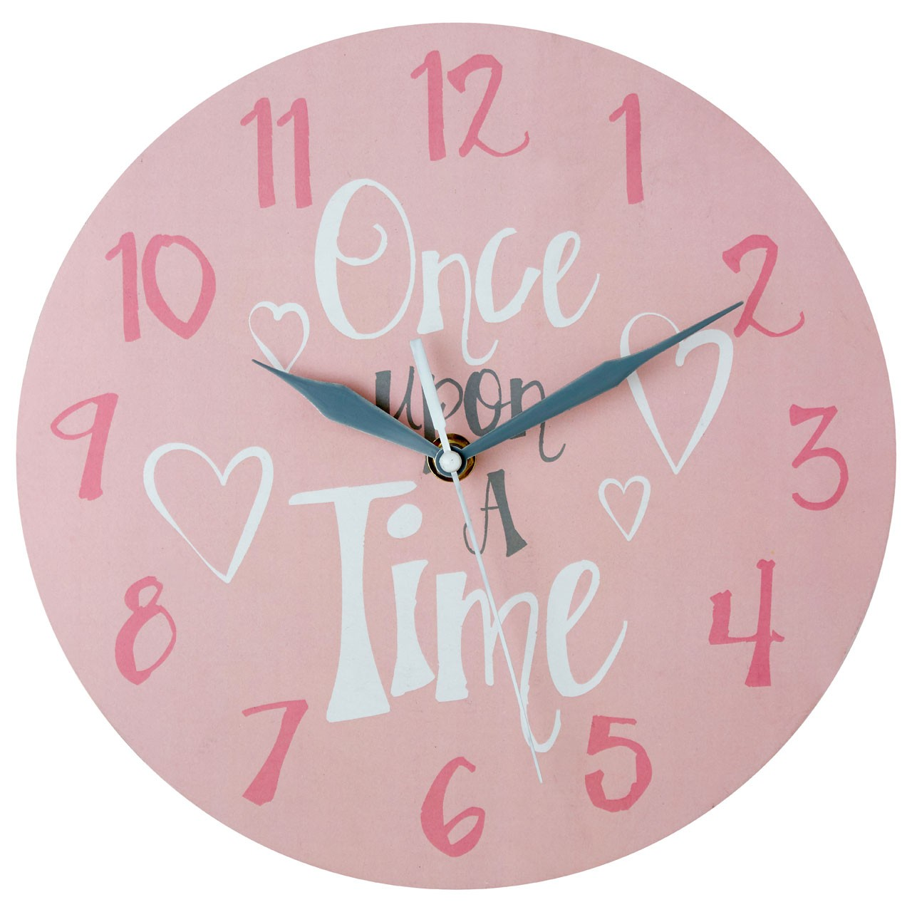 "Prime Furnishing ""Once Upon A Time"" Kids Wall Clock - Pink"