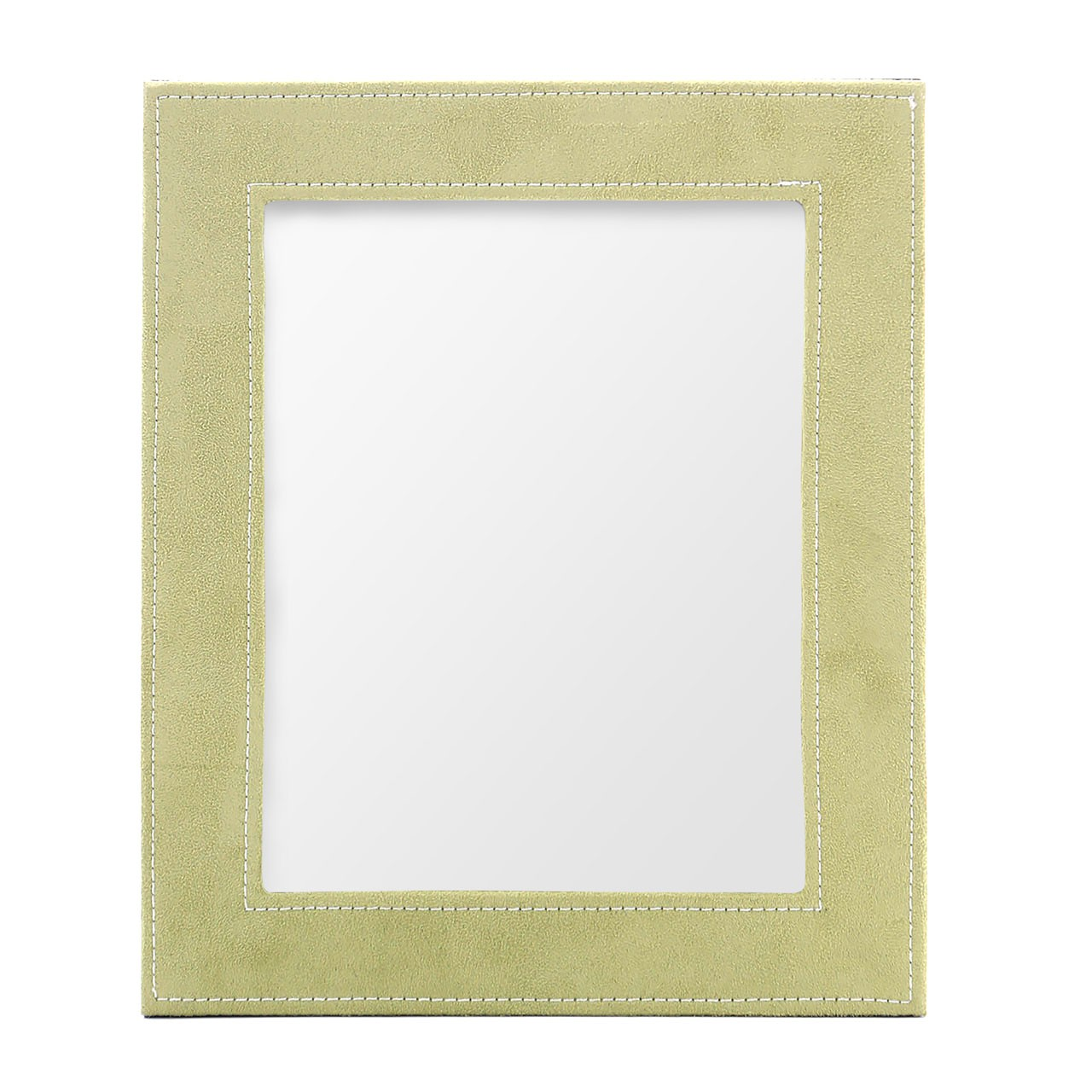 Photo Frame, Light Green Faux Suede