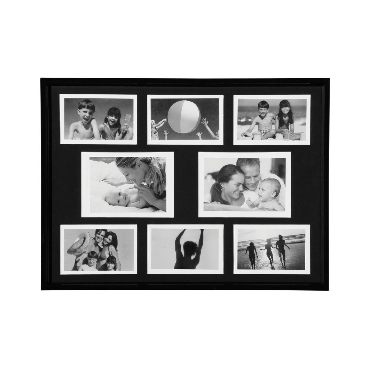 Premier Housewares Plastic Collage Photo Frame - Black
