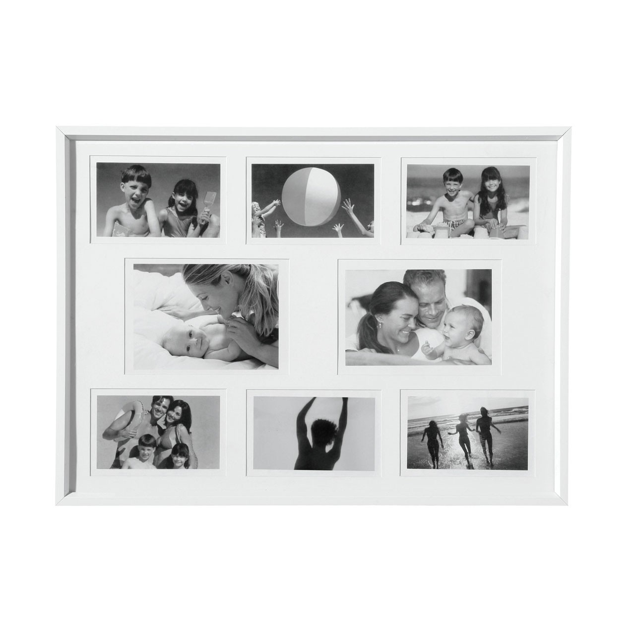 Plastic Collage Photo Frame - White