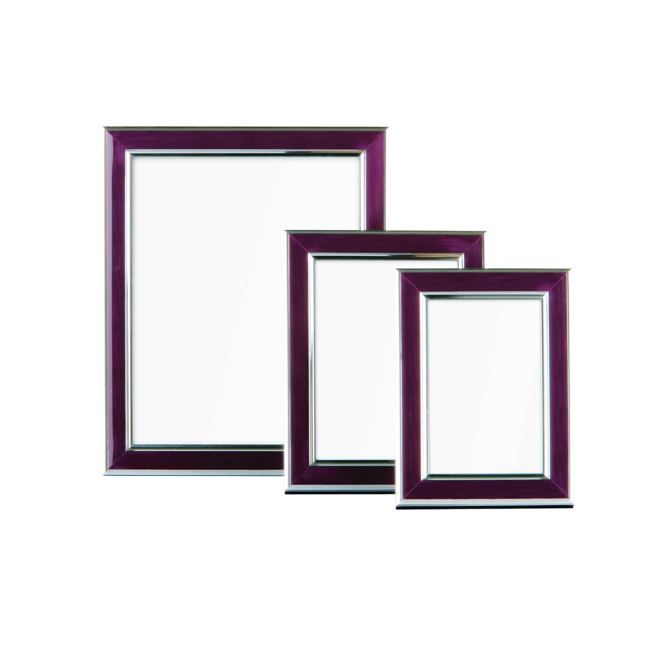 Premier Housewares Photo Frame with Silver Border - Set of 3