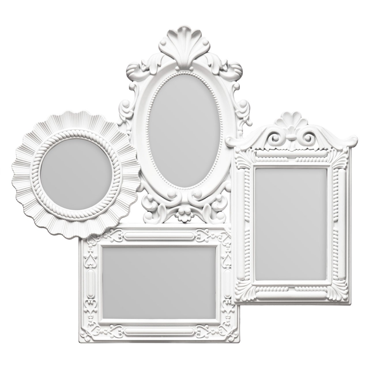 Prime Furnishing 4 Photo Plastic Photo Frame - White