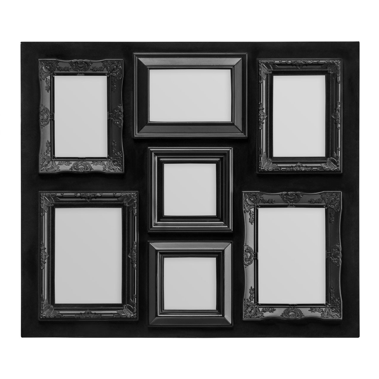 Prime Furnishing 7 Photos Plastic Photo Frame - Black