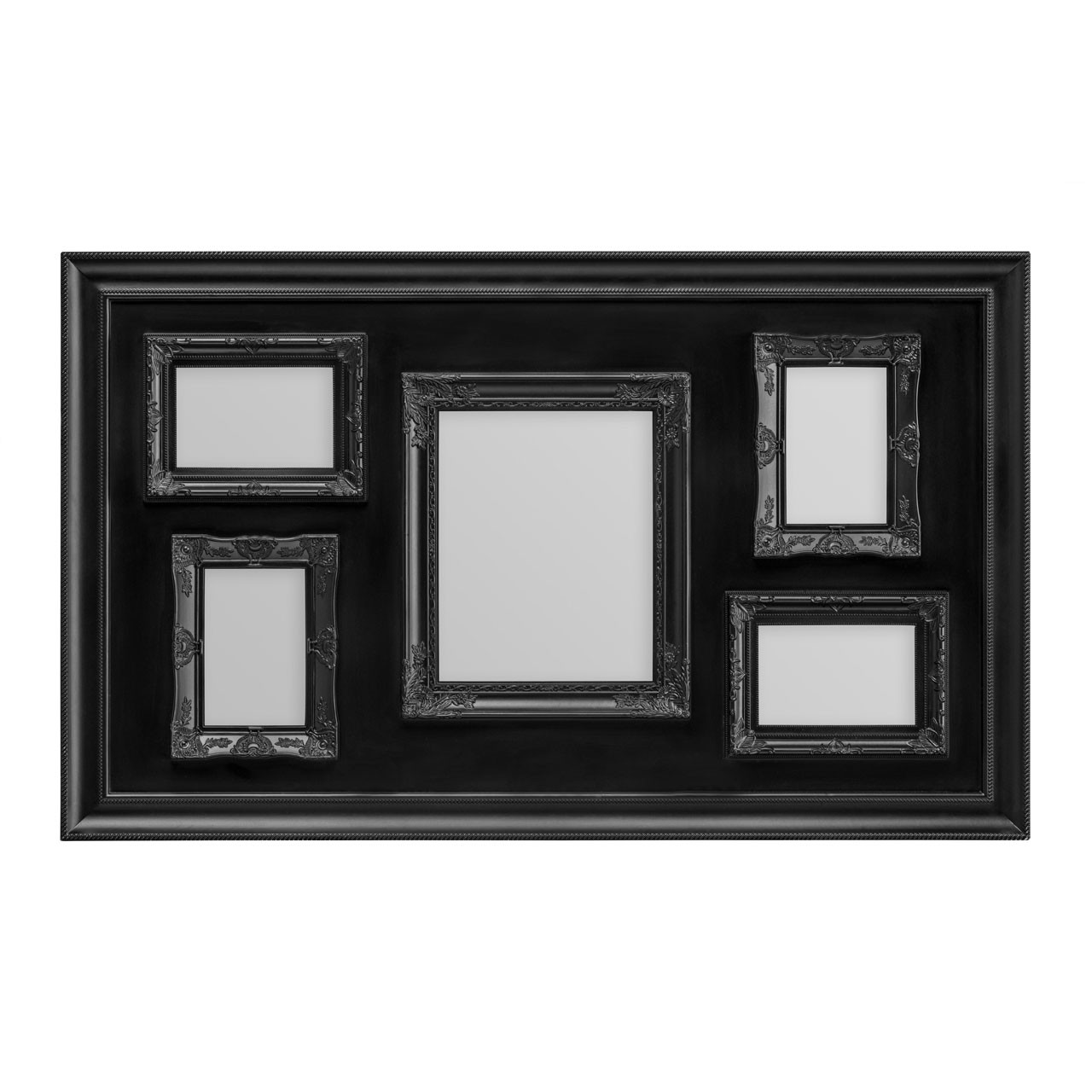 Prime Furnishing 5 Photo Plastic Photo Frame - Black
