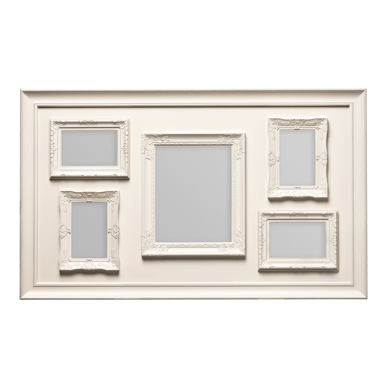 Prime Furnishing 5 Photo Plastic Photo Frame - Cream