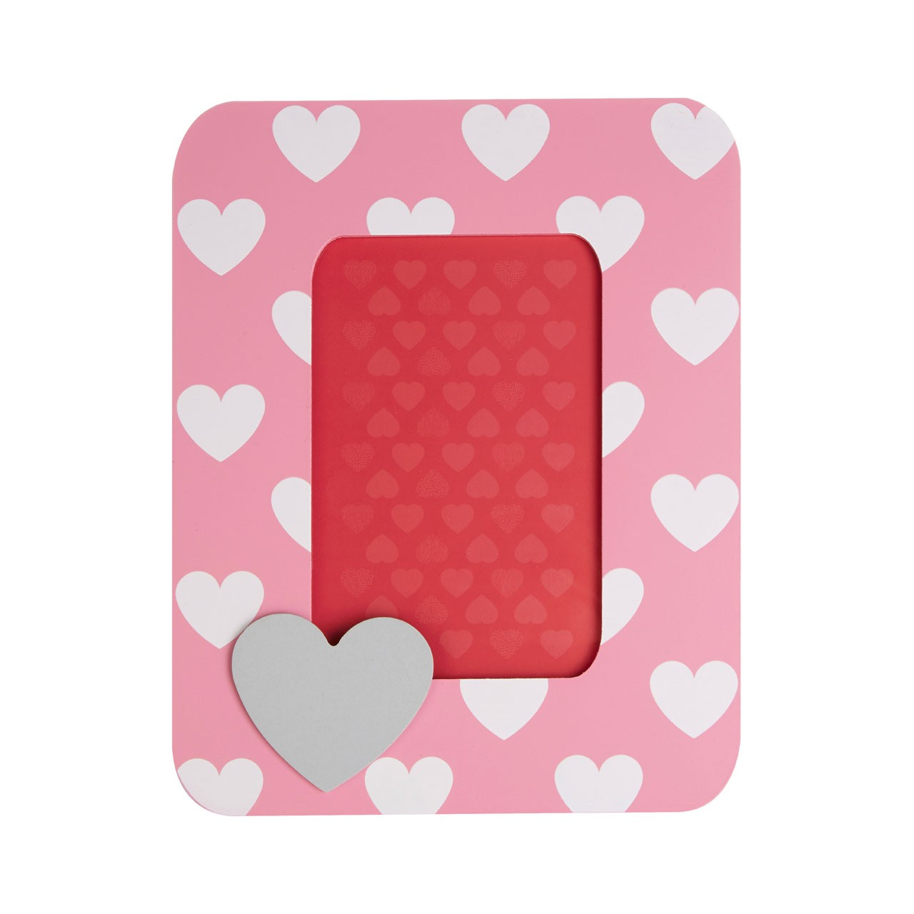 Prime Furnishing Heart Photo Frame - Pink
