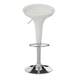 Set Of 2 Style Adjustable Bar Stool Smooth ABS Plastic