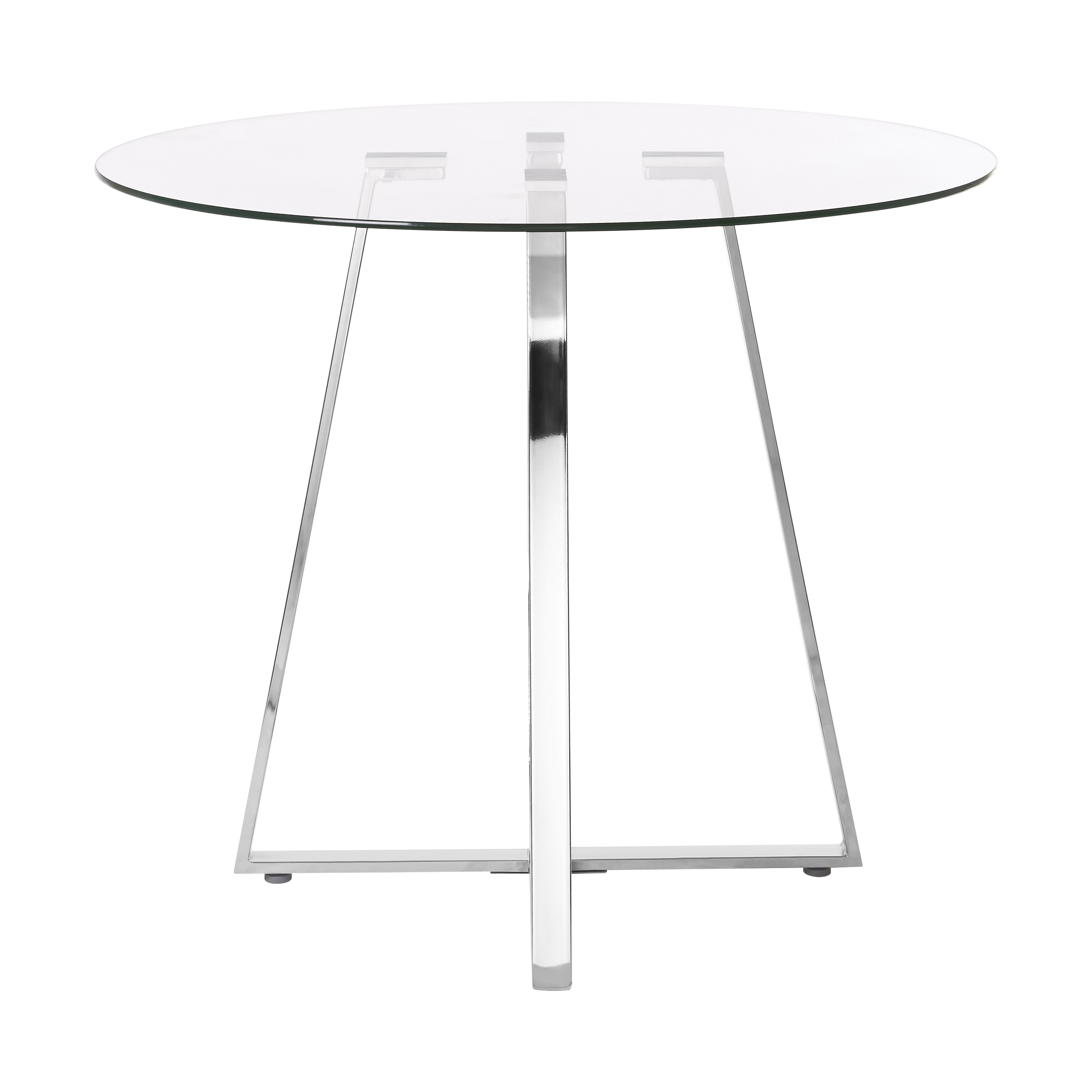 Metropolitan Dining Table, Glass, Round
