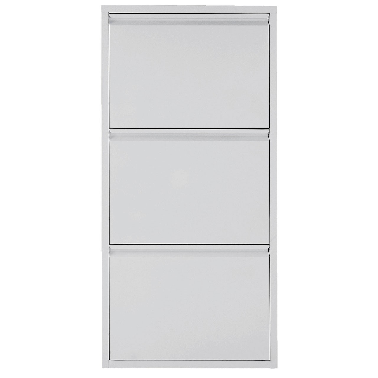 3 Drawer Metal Shoe Cabinet White