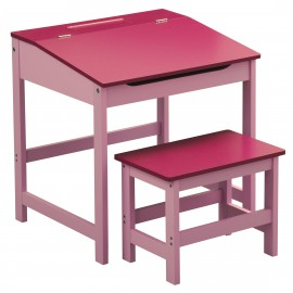 Prime Furnishing Children's Desk And Stool, MDF - Pink