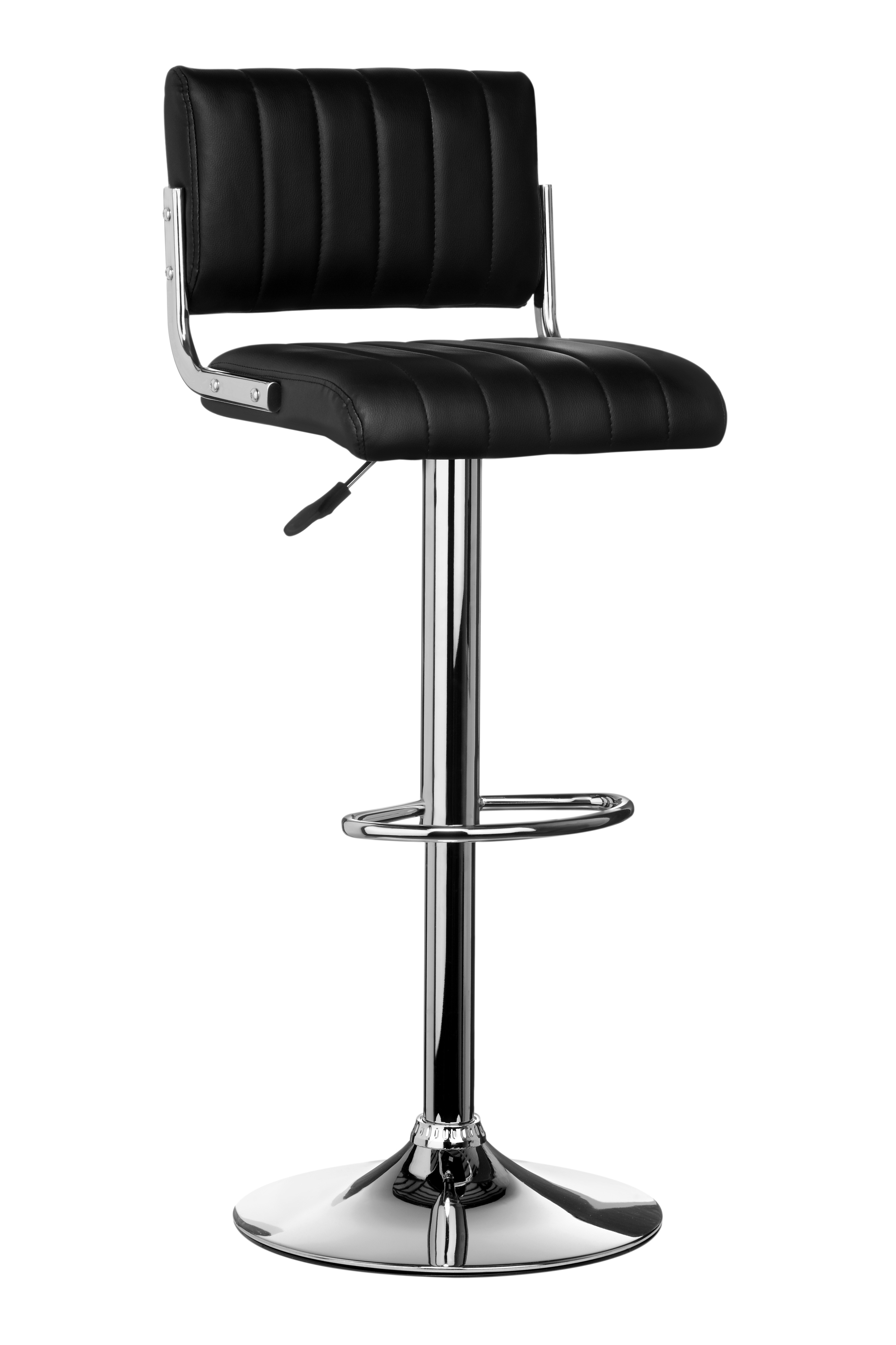 Ribbed Bar Chair - Black, Set of 2