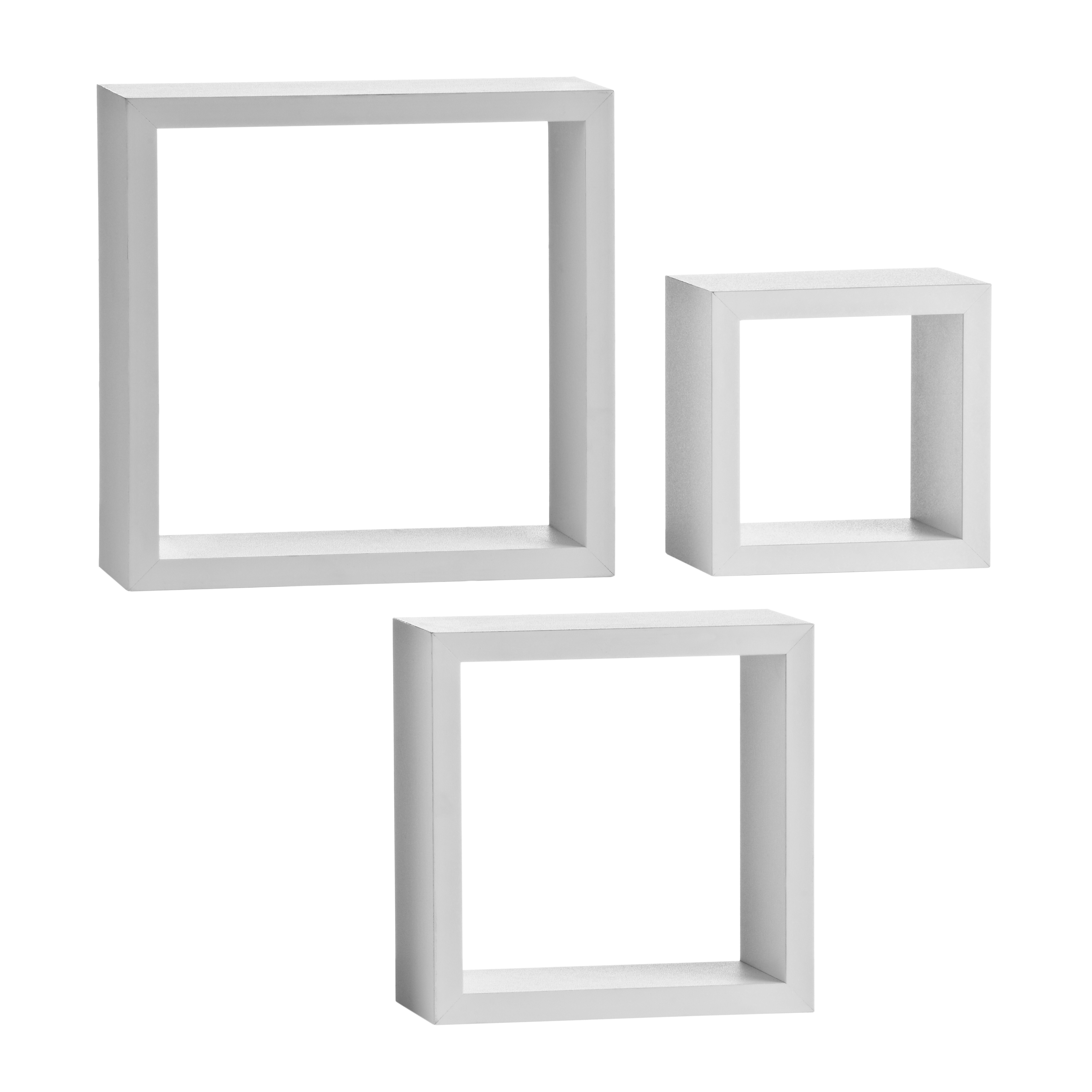 Wall Cubes - White, Set of 3