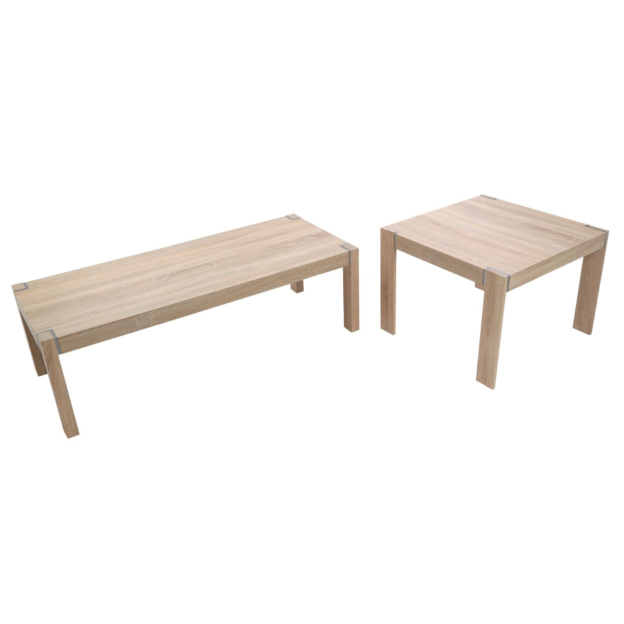 Loki Set of 2 Tables Natural Oak Veneer
