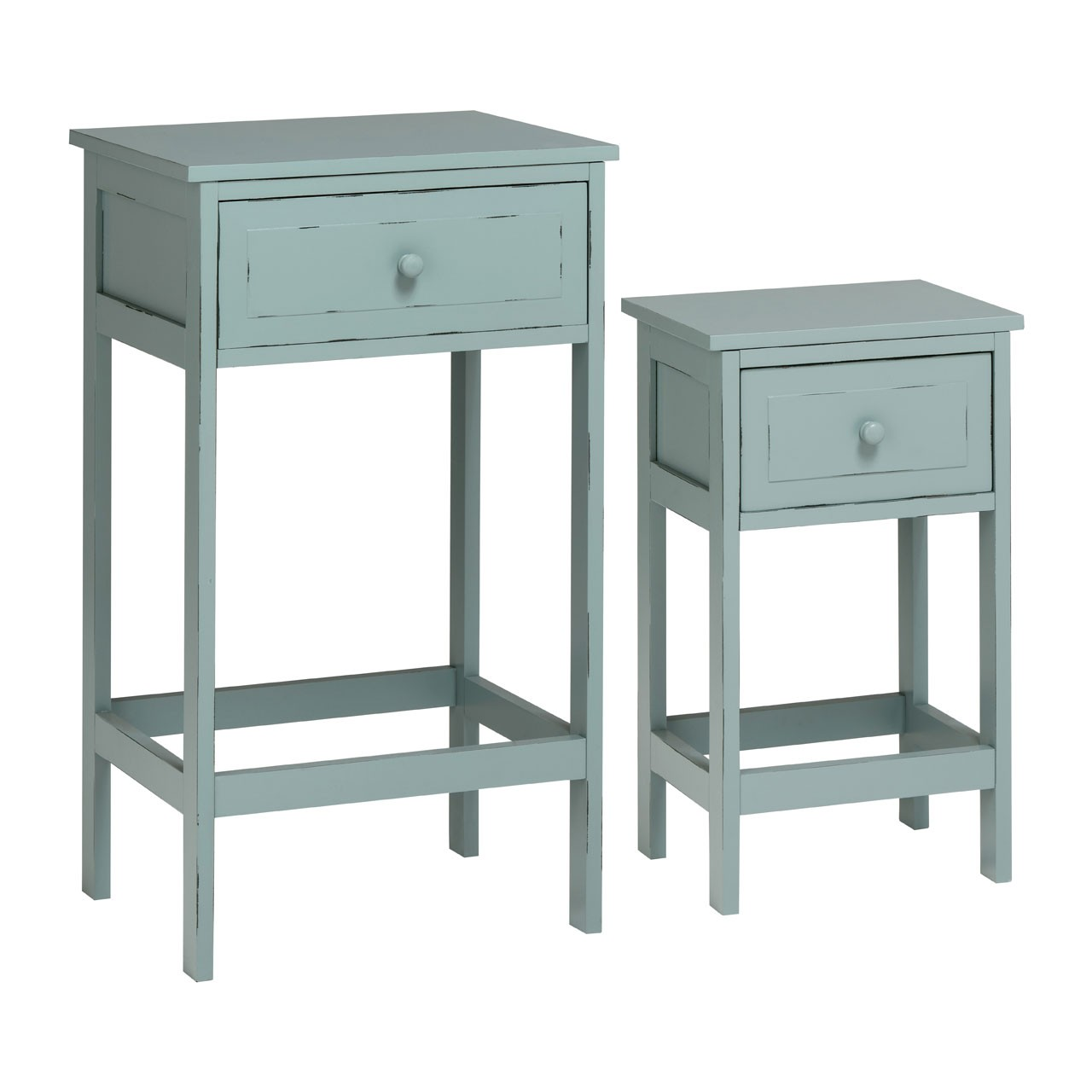 Chatelet Tables, Set of 2, Blue Grey