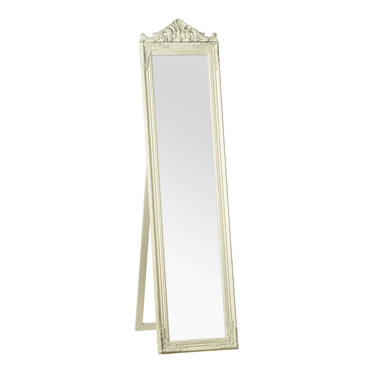 Prime Furnishing Boudoir Floor Standing Mirror - Cream/Gold