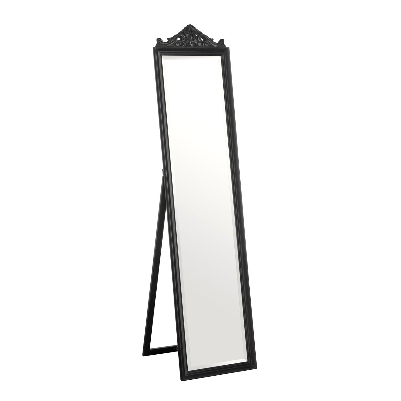 Prime Furnishing Boudoir Floorstanding Mirror - Matt Black