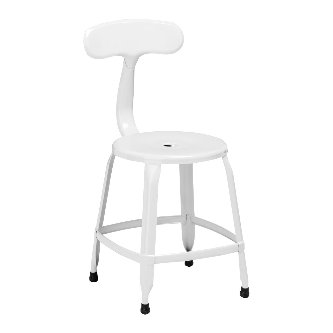 4 x Disc Chair White Powder Coated Metal