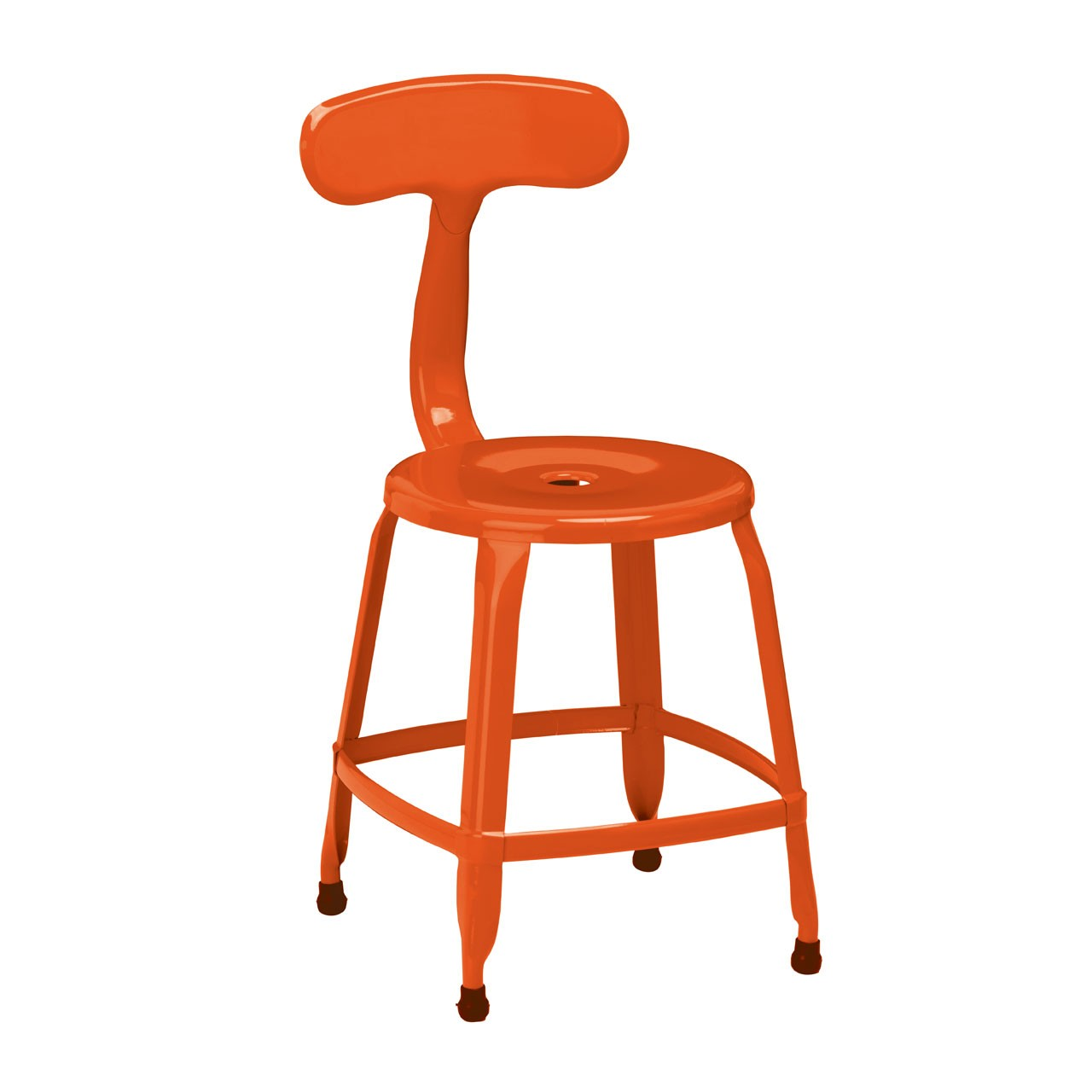 4 x Disc Chair Orange Powder Coated Metal