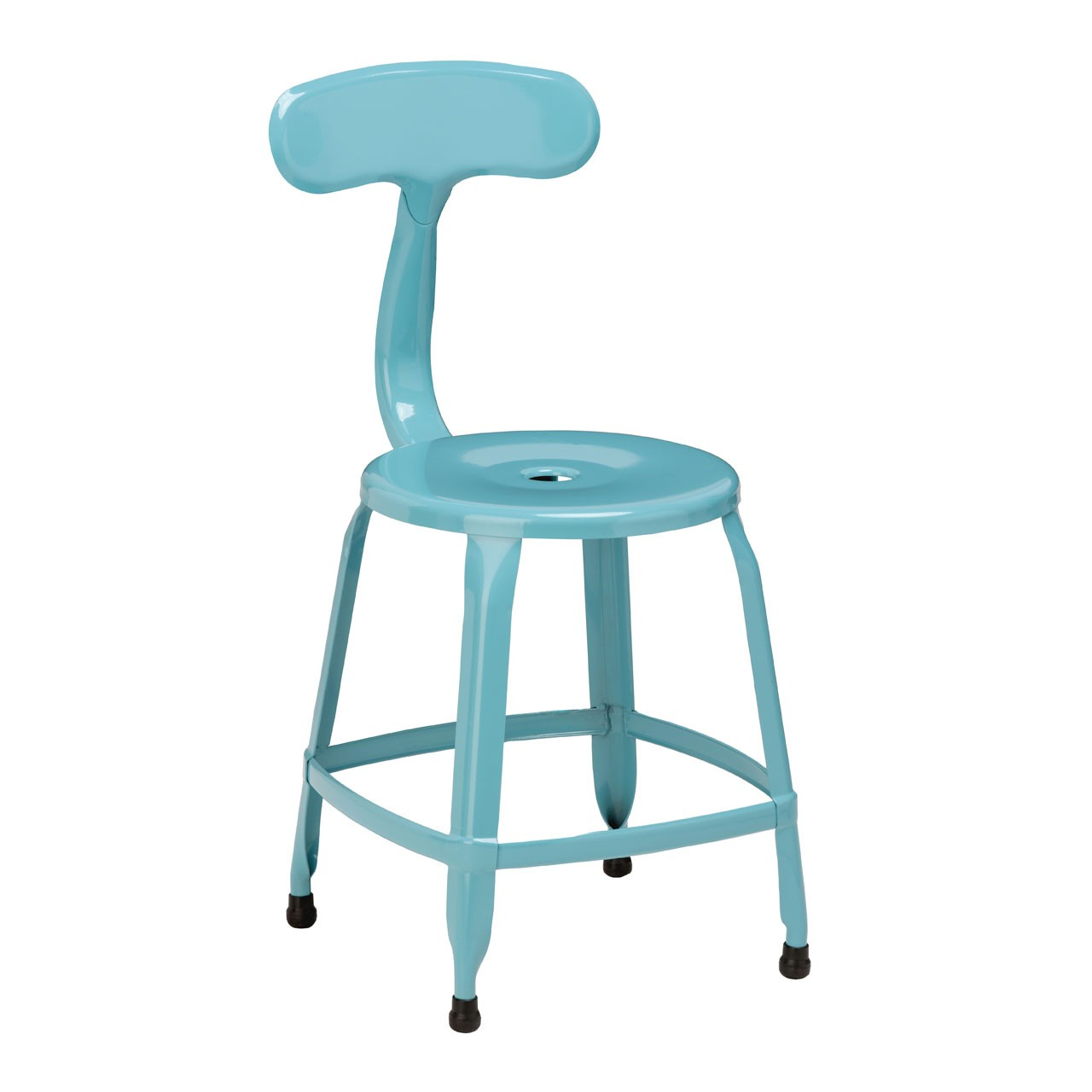 4 x Disc Chair Blue Powder Coated Metal