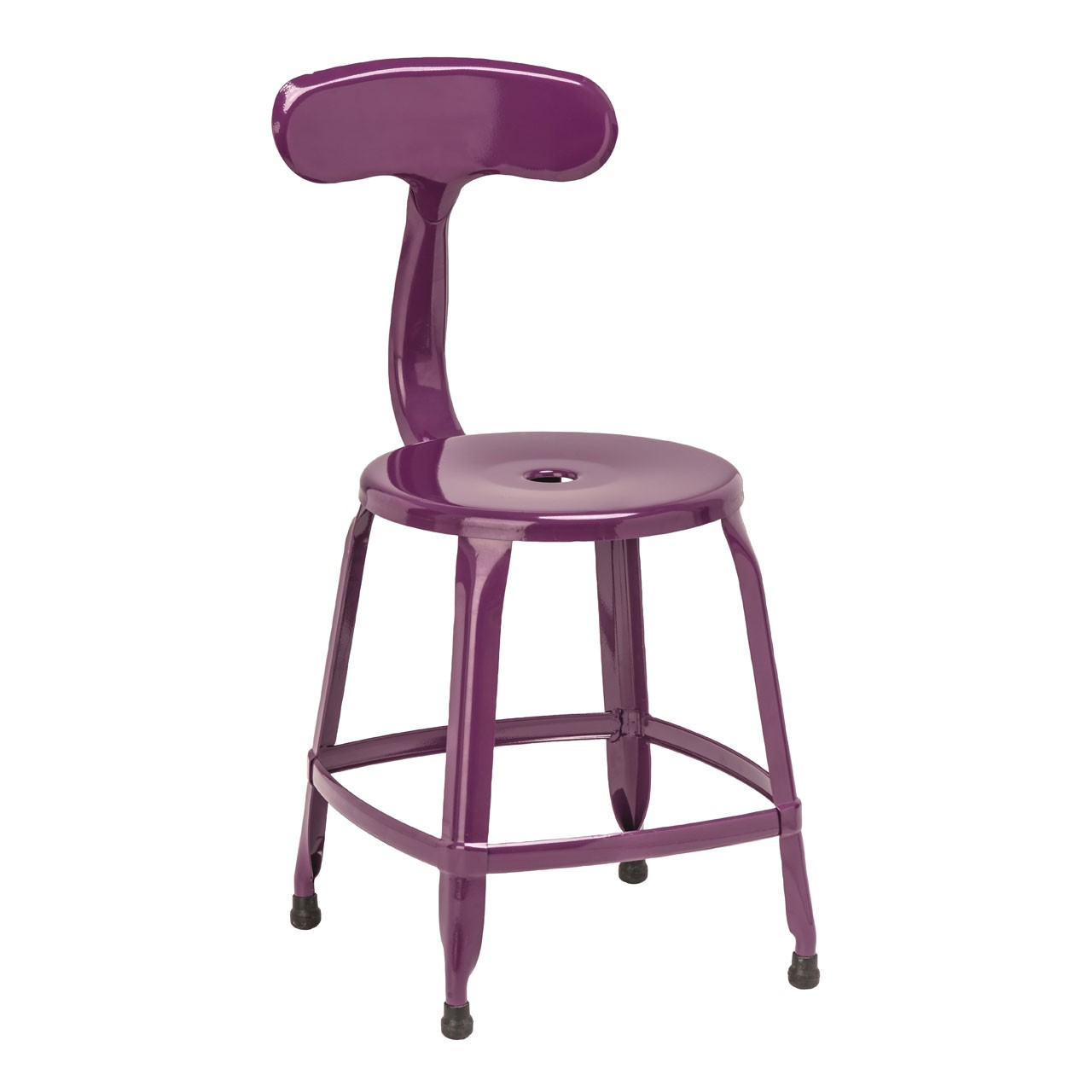 4 x Disc Chair Purple Powder Coated Metal