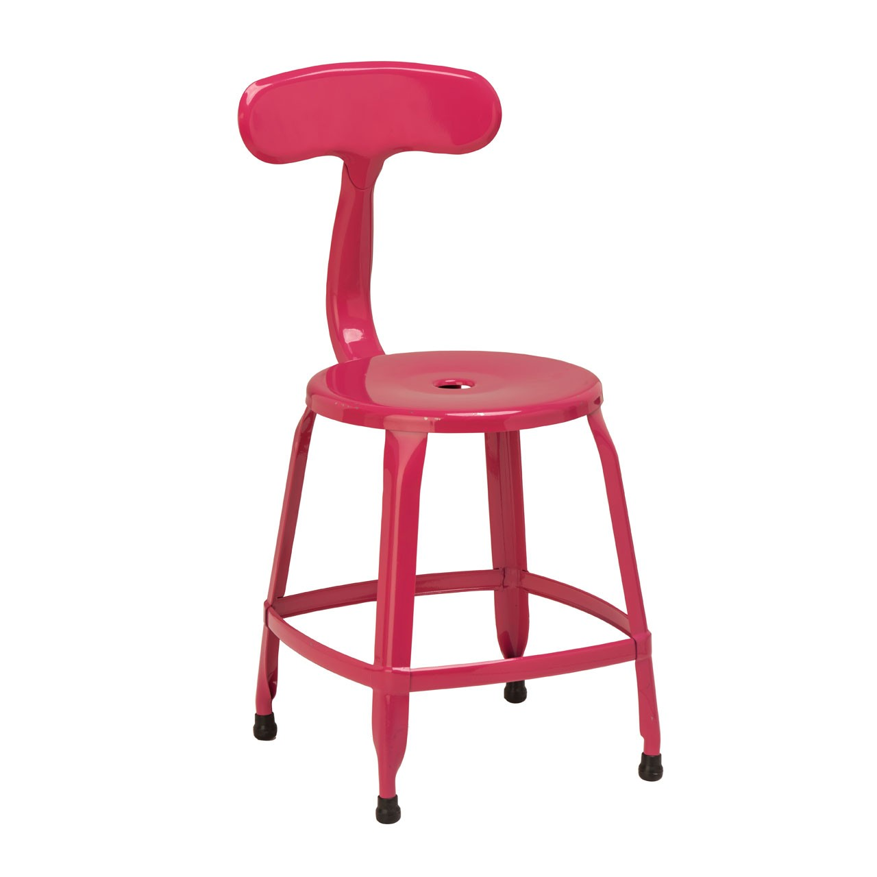 4 x Disc Chair Hot Pink Powder Coated Metal