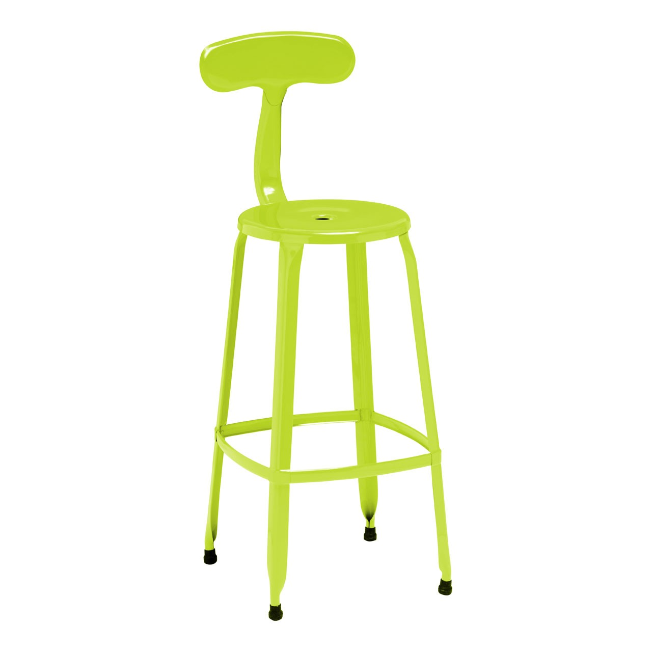 4 x Breakfast Chair Disc Bar Chair Powdr Coated Metal Lime Green