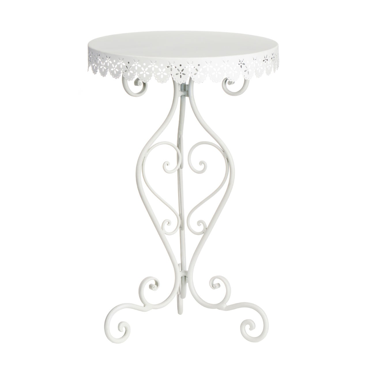 Chic Penelope Side Table, White