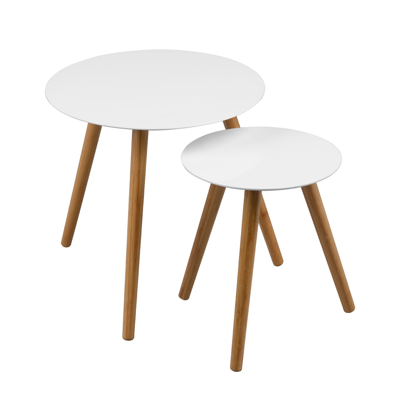 Nostra Nest Of 2 Tables White High Gloss