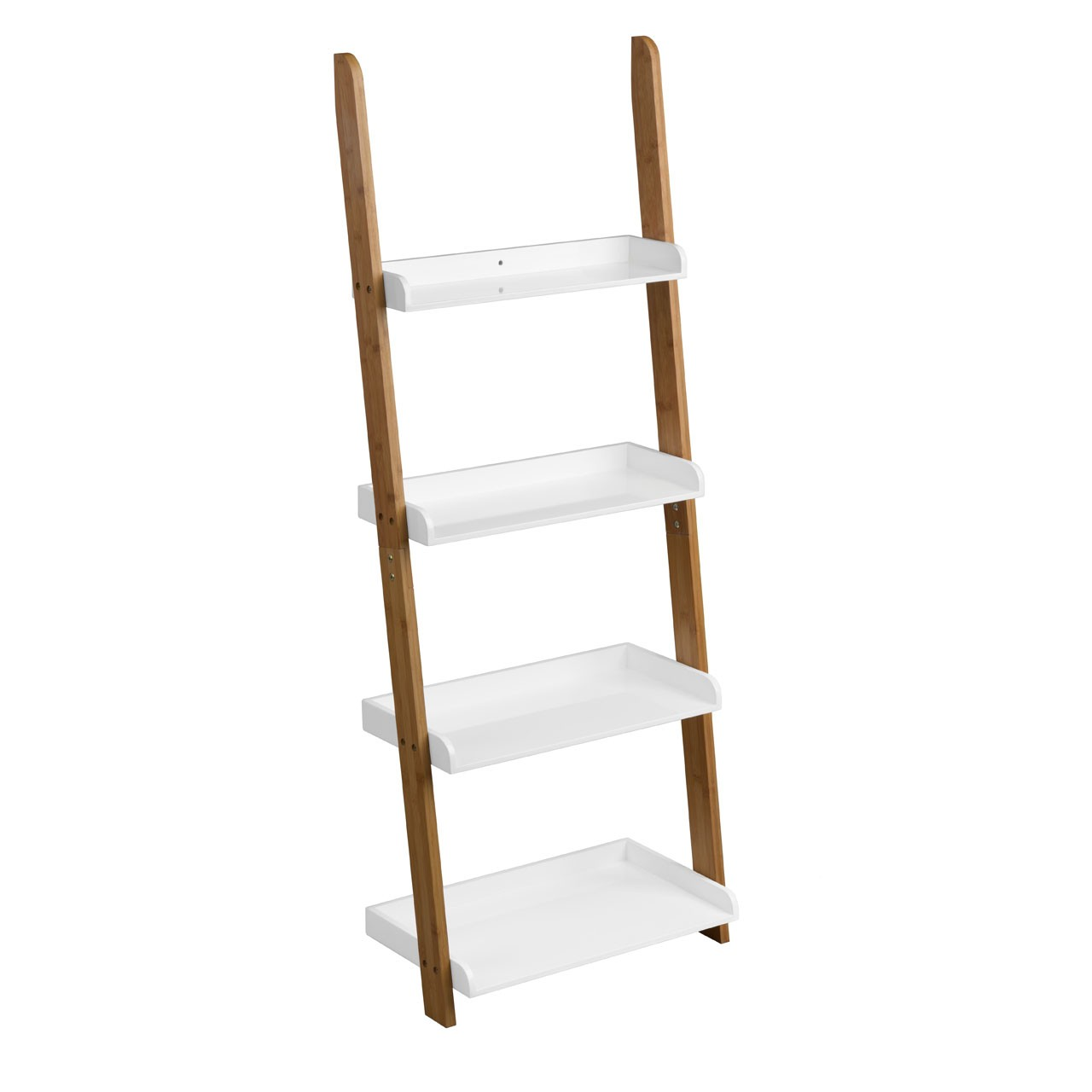 4 Step Nostra Shelf Ladder Unit White High Gloss