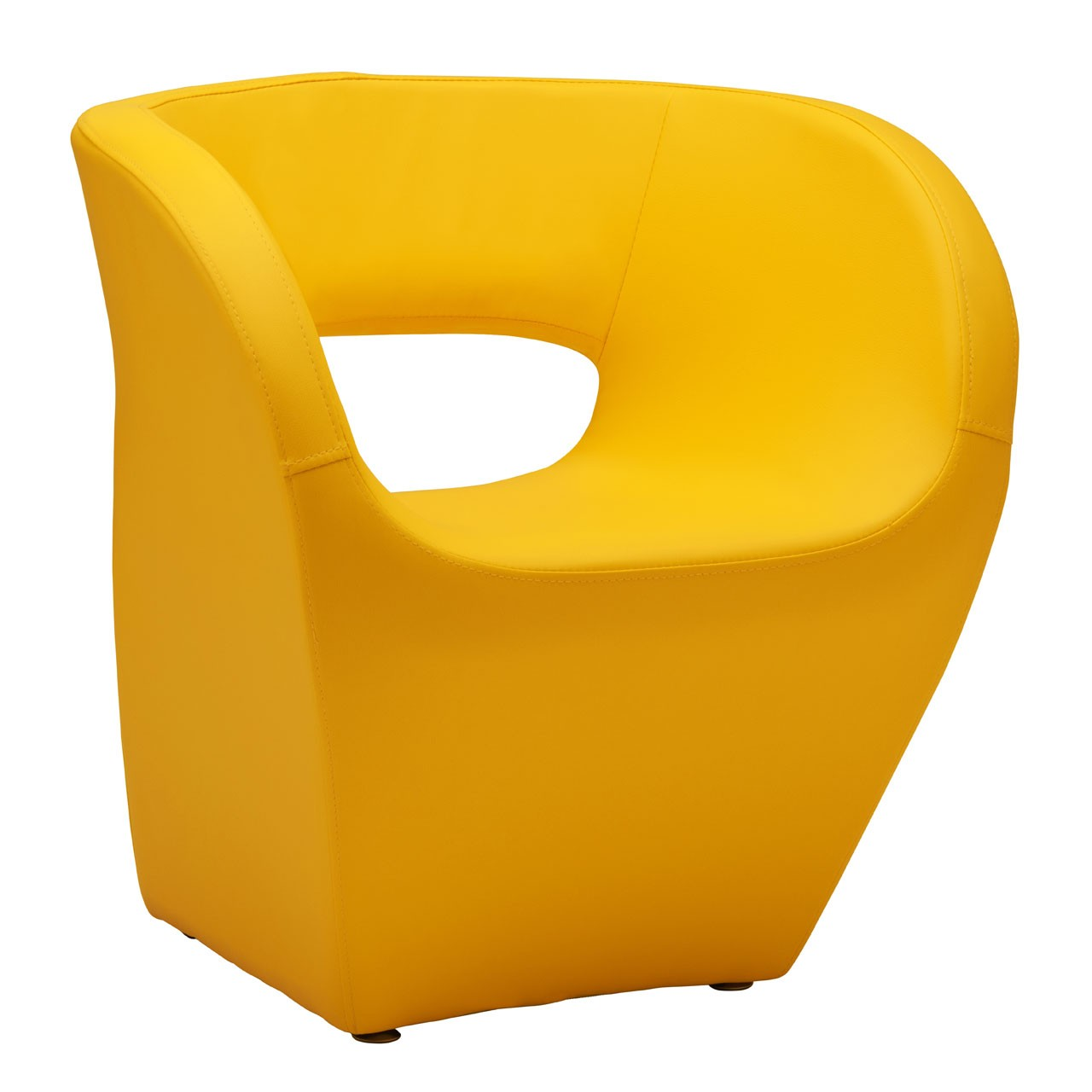 Aldo Chair, Yellow Leather Effect