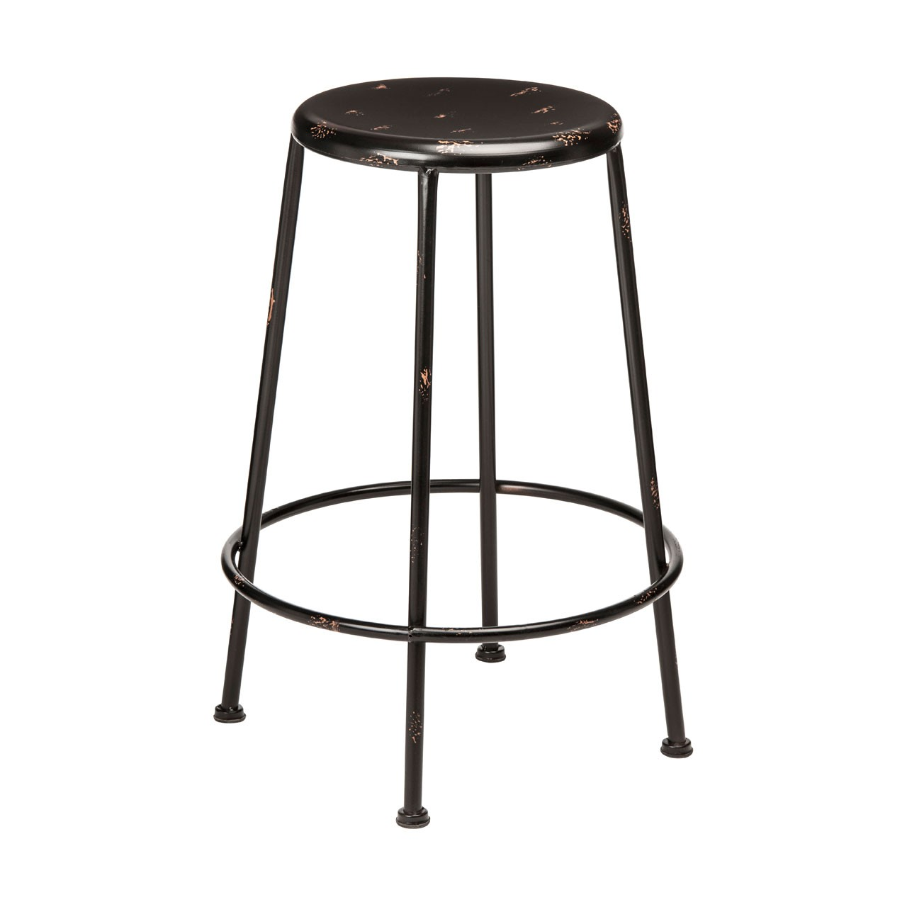 Artisan Stool Black Stool Has Chipped Paint Detail Wonderful
