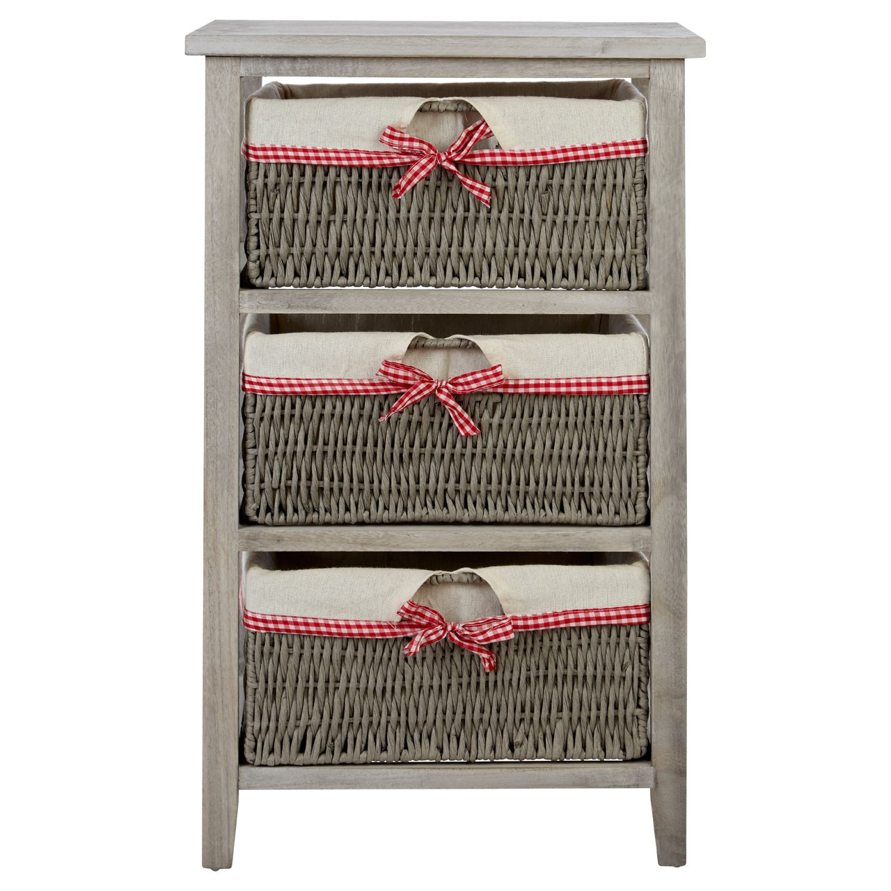 Prime Furnishing Cotswold Drawer Chest With 3 Woven Baskets