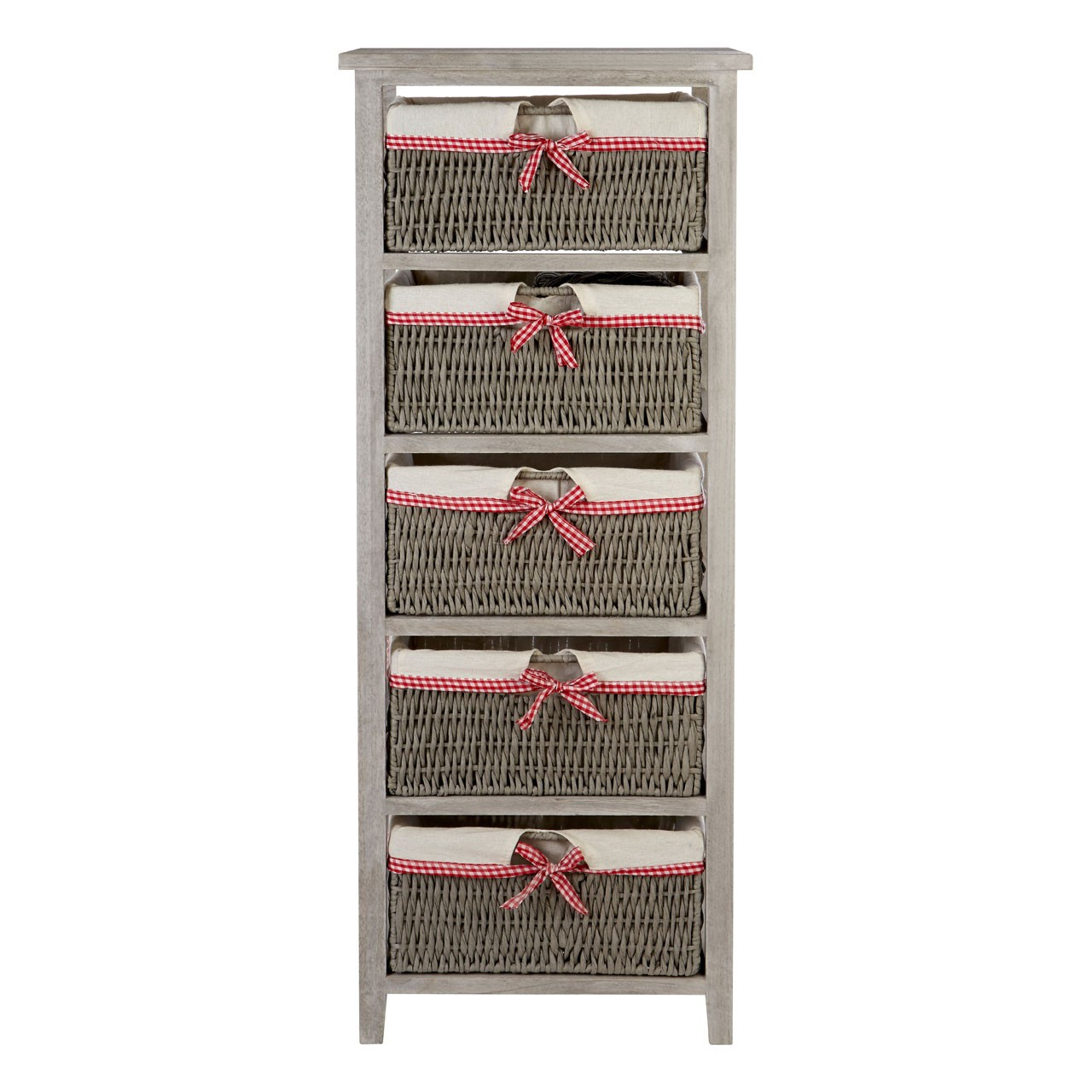 Prime Furnishing Cotswold Drawer Chest With 5 Woven Baskets