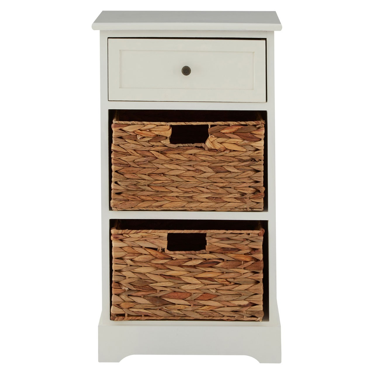 Vermont 1 Drawer and 2 Baskets Cabinet - Ivory