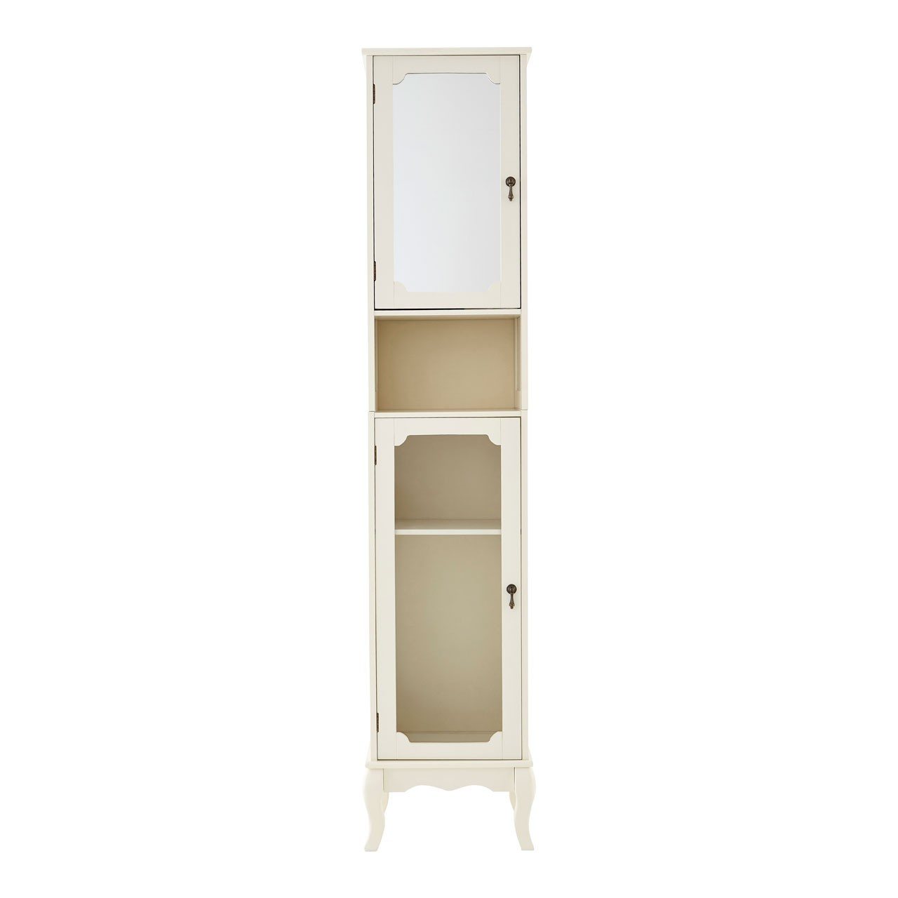 Marcella Tall Cabinet Ivory MDF Ideal For Home Office