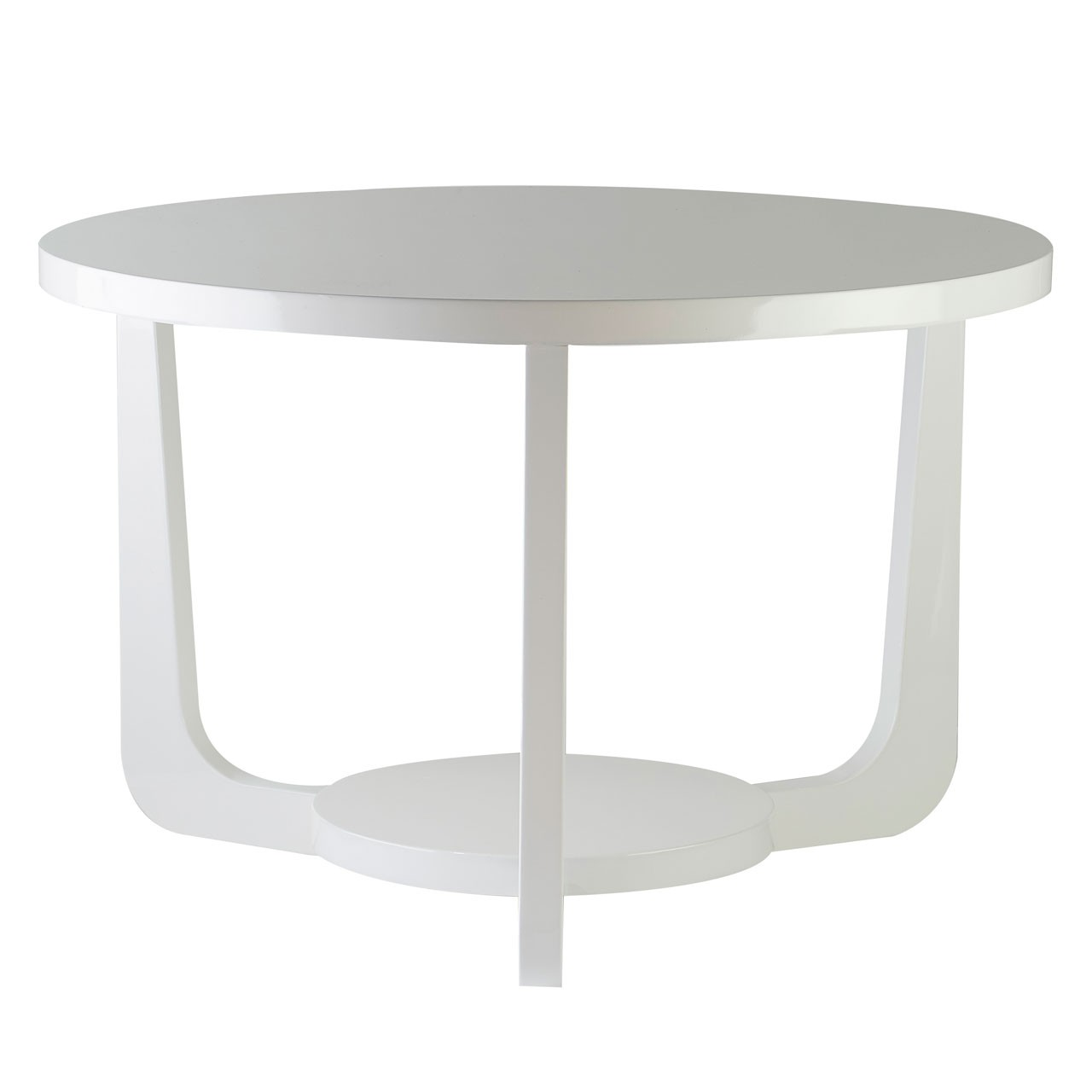 Side Table MDF White High Gloss Stylish New